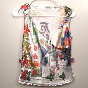 LIMELIGHT ✨ Asian Art Inspired Sleeveless Blouse